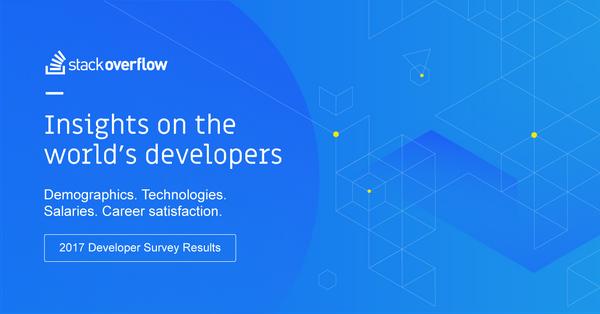 Les stats 2017 des développeurs du monde entier